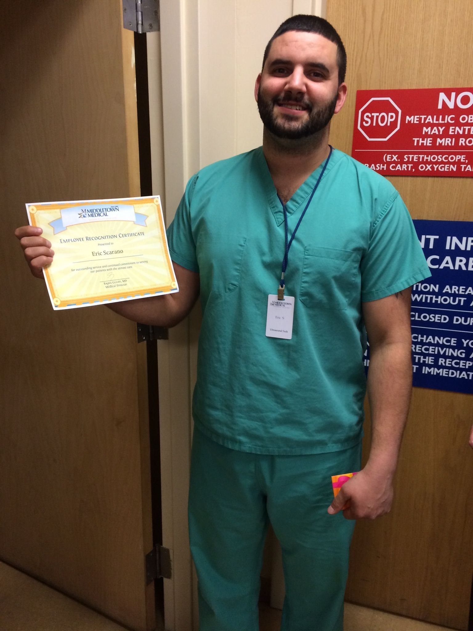 Congratulations to eric scarano from our radiology