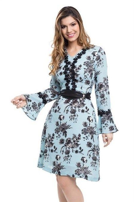 d08673d1e Vestido Crepe Bouble - Bella Herança - Moda Evangélica e Roupa Evangélica   Bela Loba