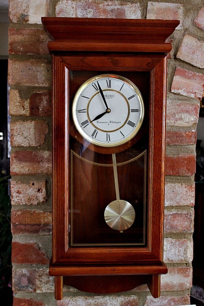Seiko quartz westminster whittington mantel desk clock