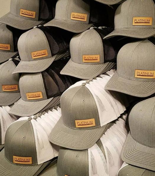 Custom Authentic Leather Patch Hats - Platinum Performance - Buellton 9f522c7f4f76