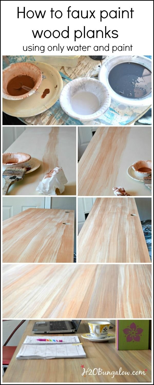Ikea desk makeover With Chalky Finish Paint