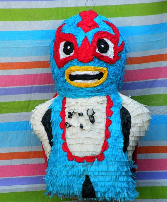 Luchador Pinata Ready to Ship by whack on Etsy, $40.00