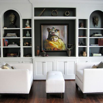 Black Built In Bookcases Decorating Paint The Backs A