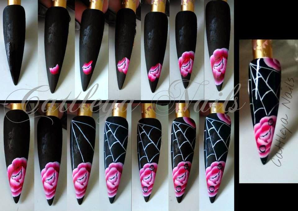 Cattleya Nails One Stroke 2 Ongles Aquarelle