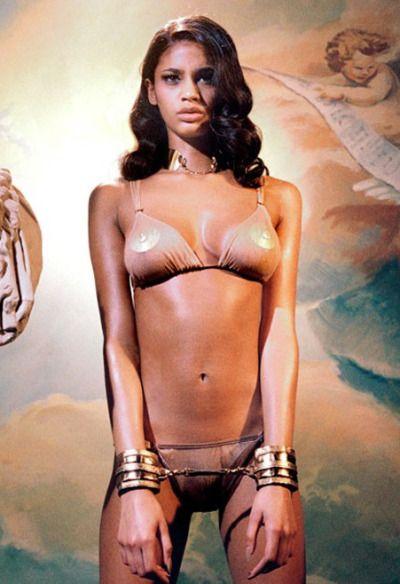 Nude girl covered in milk