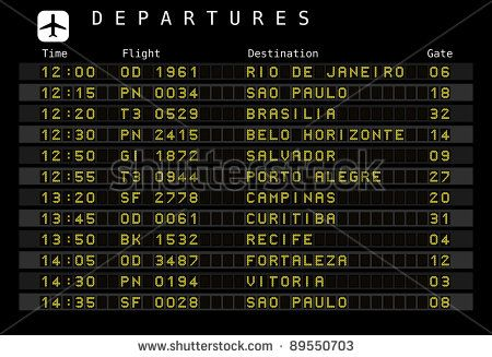 Departure board - destination airports. Cool as wall art?