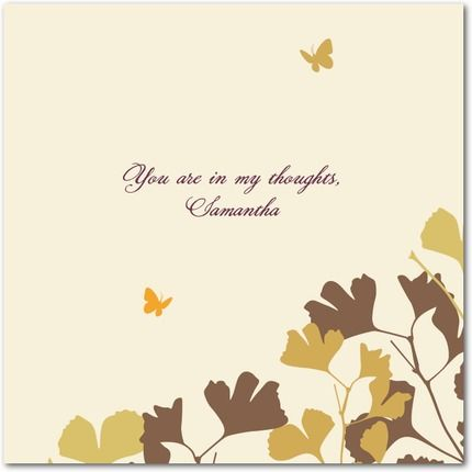 Sympathy greeting cards condolence words sympathy greetings and sympathy greeting card ginkgo bloom m4hsunfo