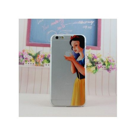 coque iphone 8 plus portefeuille blanche neige