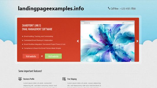 SharePoint Landing Page Samples Landing Pages Examples Pinterest