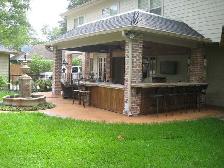 Home Additions Built On Concrete Columns Pictures   Custom Designed And  Built Patio Cover In Houston