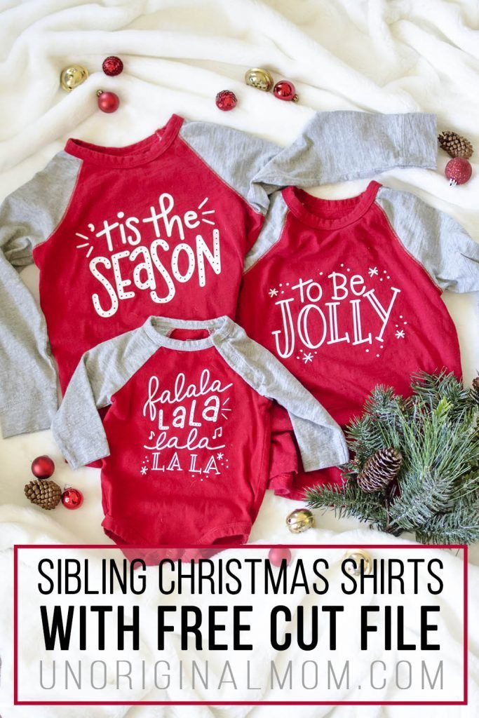 DIY Sibling Christmas Shirts + Free SVG Christmas shirts