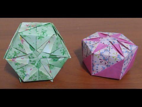 368.육각상자접기.오월의장미.origami.종이접기.인형만들기.컨츄리인형 - YouTube