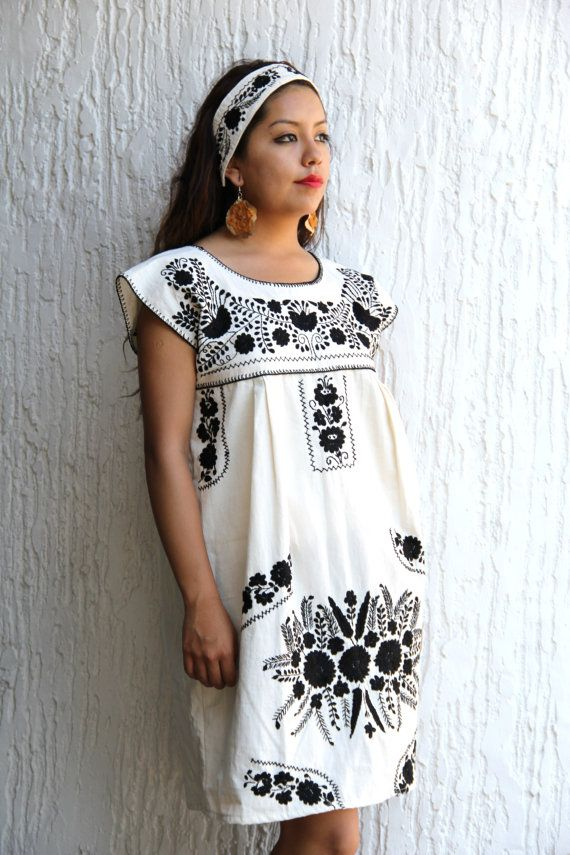 e5886702058 embroidery really makes this dress. Etsy Store Stunner  Casa Otomi   The  English Room Blog