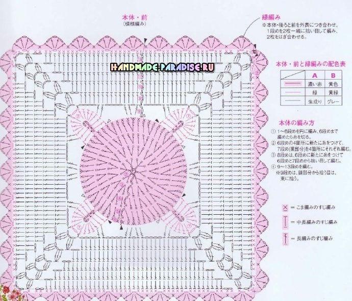 декоративные сидушки для стула крючком схемы Dom вязание