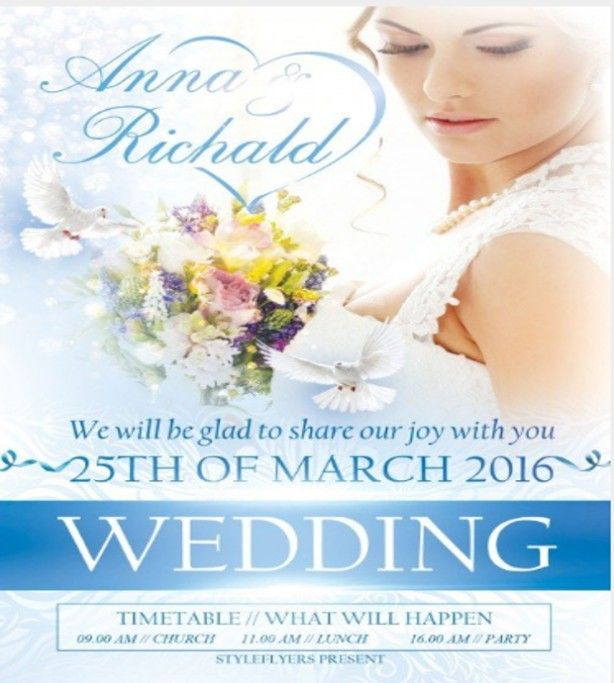 wedding flyer template free
