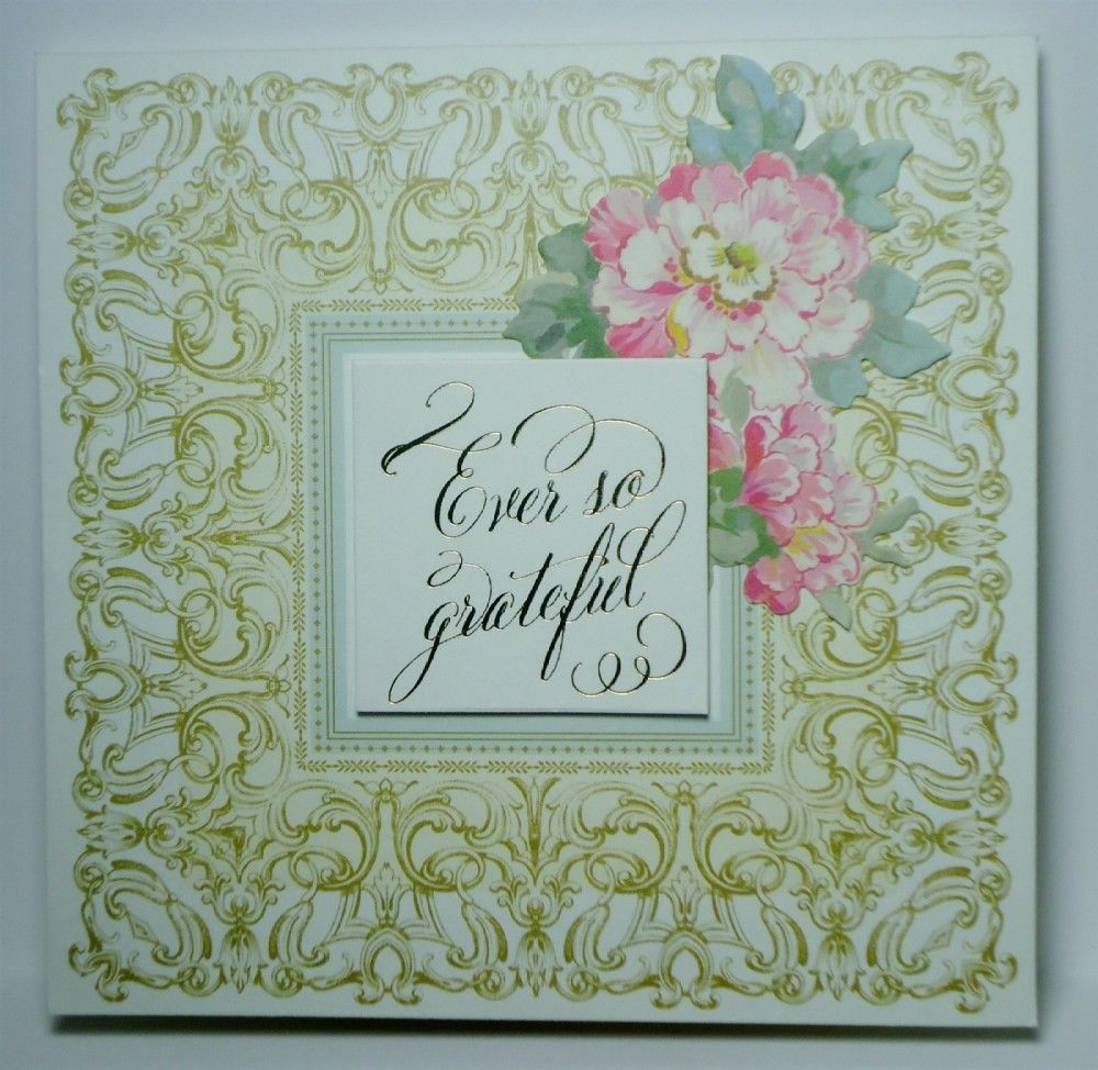 Thank You Grateful Anna Griffin Inspired Handmade Pop Up Greeting