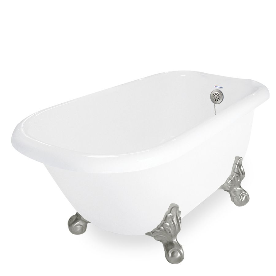 American Bath Factory Jester 30 In W X 54 In L White Acrylic Oval