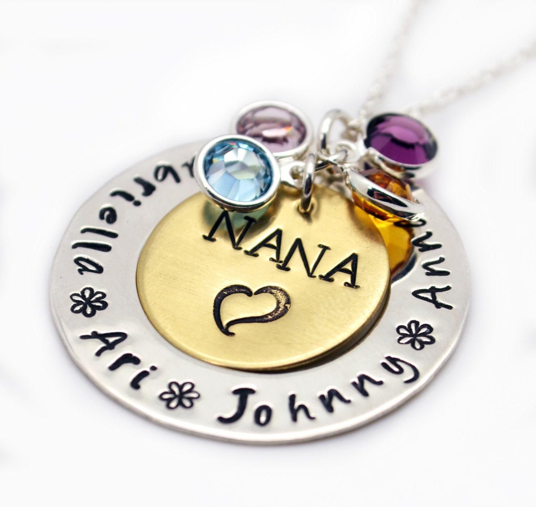925 Sterling Silver Small Pendant Gift Grandma Grandmother Nana Charm Necklace