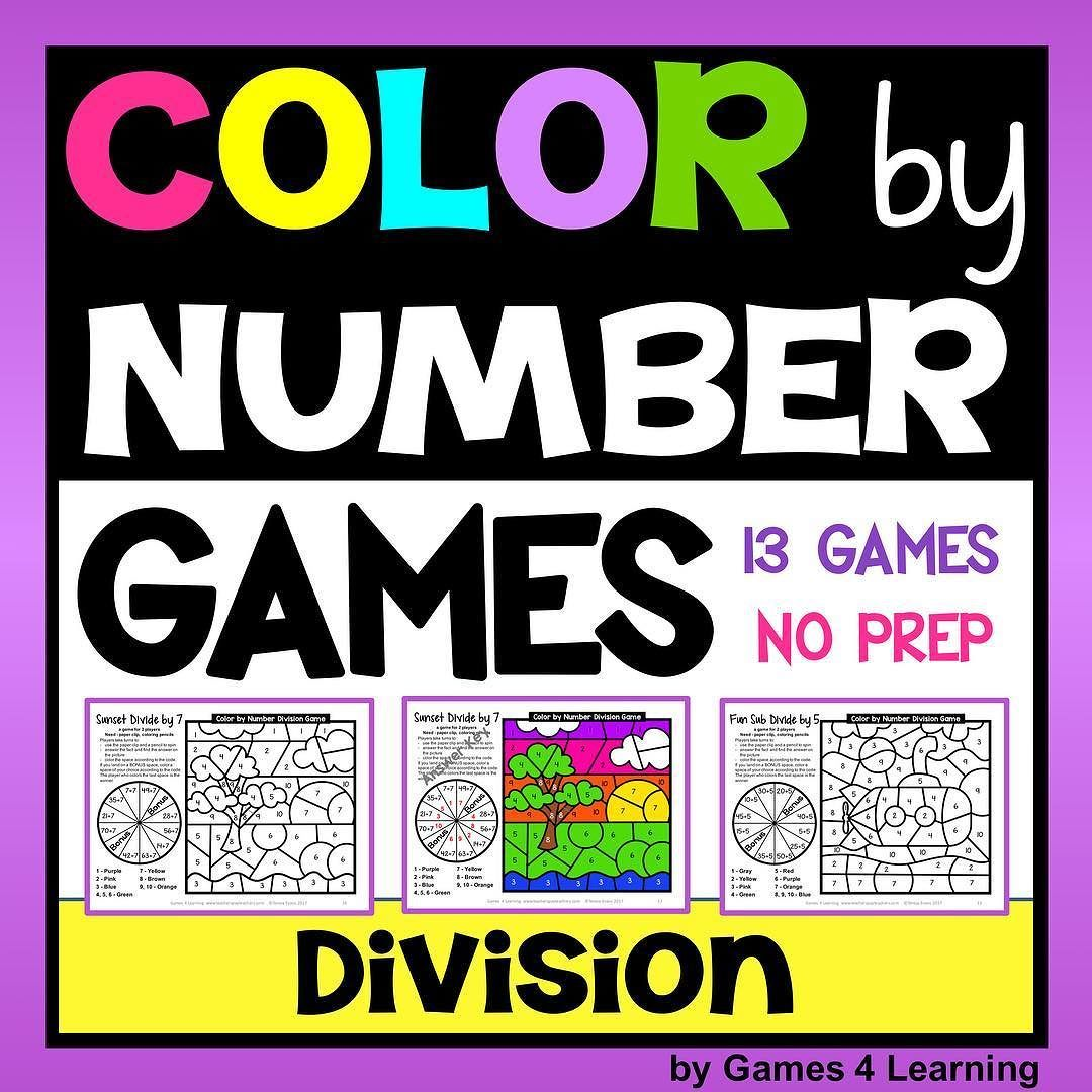 Division Color By Number Games Bonus Division Coloring