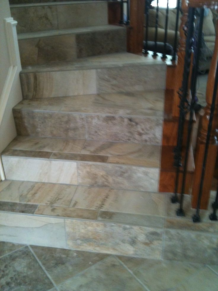 Tiling Staircases Porcelain Tile With Bull Nose Stairs Stair Nosing Travertine