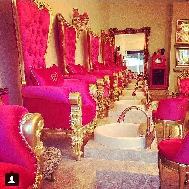 Nail Salon Decor, Pink