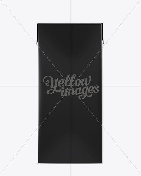 Tetra Brik Aseptic Slim No Opening – 1000 Ml Black Mockup