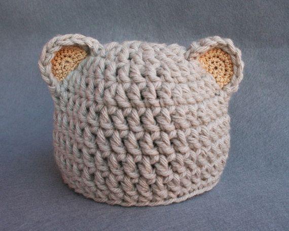 Como tejer gorros a crochet para niños con orejas - Imagui Atelier a962ce46cb6