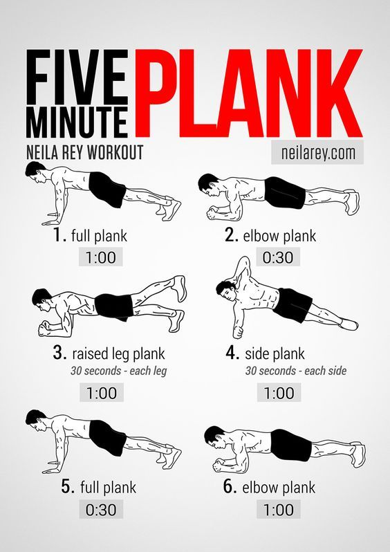 Neila Rey's Five Minute Plank Workout: