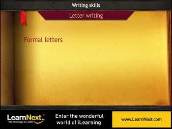 animated video lecture for formal letters format and sample