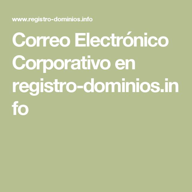 Correo Electrónico Corporativo en registro-dominios.info