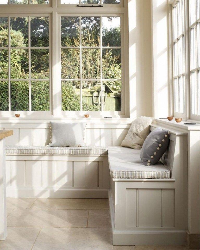 40+ Elegant Farmhouse Banquette Seating In Kitchen Decor ...