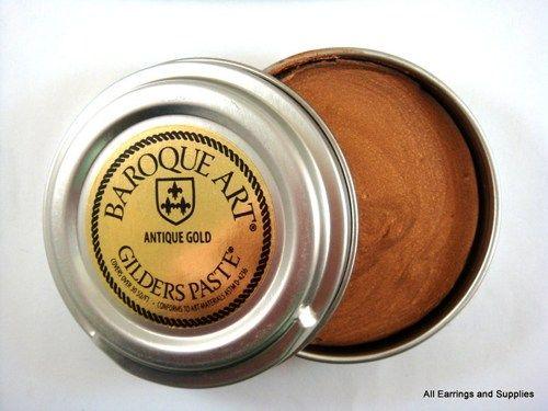 Antique Gold Gilders Wax Paste - 1 pc - 5590 | Allearringsandsupplies - Jewelry Supplies on ArtFire