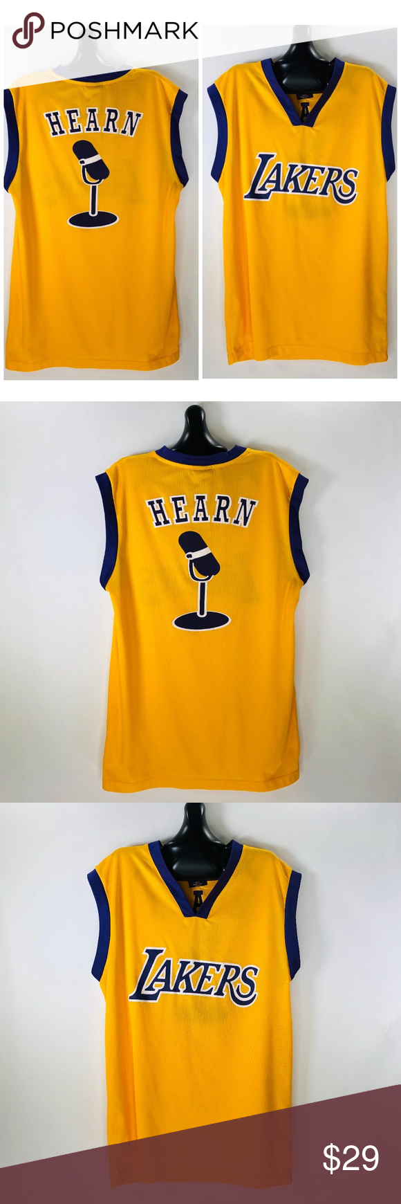 7b500df00 Los Angeles LA Lakers Chick Hearn Promo Jersey XL Los Angeles LA Lakers  Chick Hearn Promo Jersey XL Lakers Shirts Tank Tops