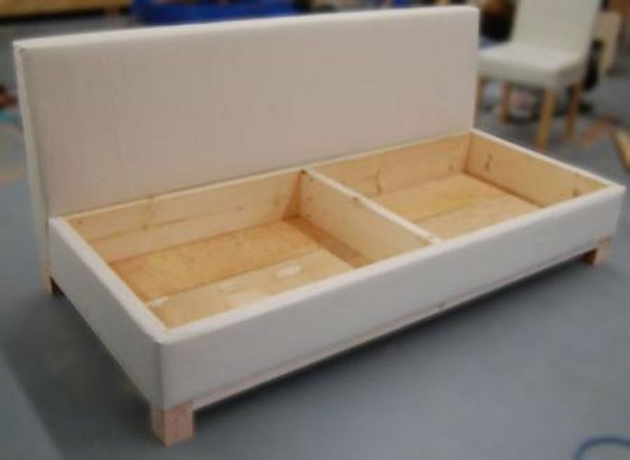 Idea para casas pequeñas: Cómo hacer un sofá cama | Sofás cama, Ana ...