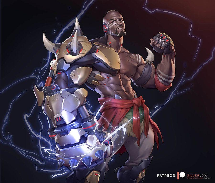 Men Of Color In Fantasy Art Justiceallianceunlimited Doomfist By Silverjow Overwatch Fan Art Overwatch Doomfist Art