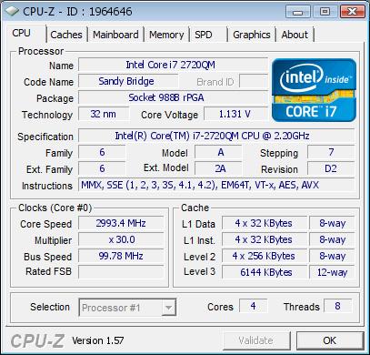 cpuz - Apple MacBook Pro 17