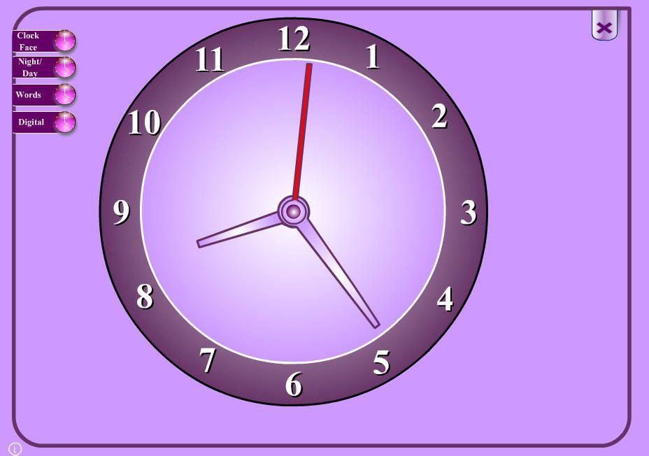 A fun interactive clock face, to help children understand ...
