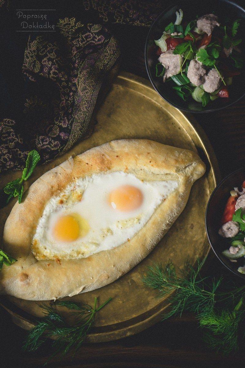 Chaczapuri Adzarskie Gruzinskie Chaczapuri Adzaruli Poprosze Dokladke In 2020 Avocado Egg Food Recipes