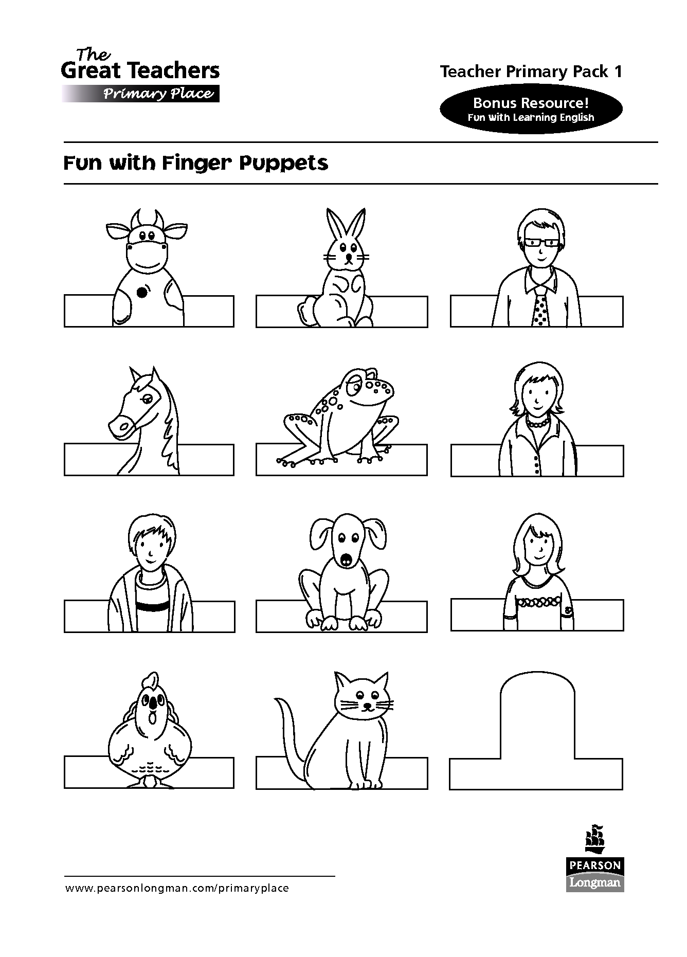 Animal Finger Puppet Templates
