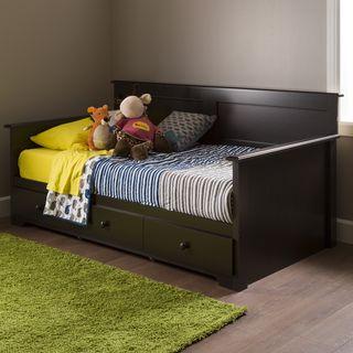 Black Twin 6 Drawer Captainu0027s Platform Storage Bed | Overstock.com Shopping    The
