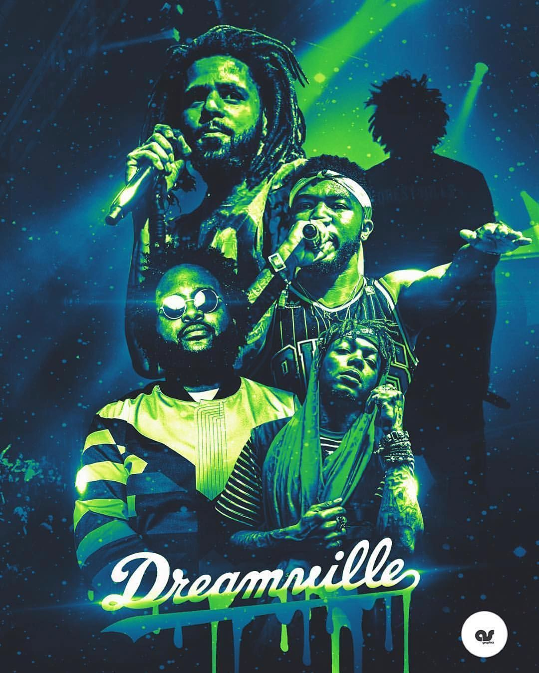 J Cole On Instagram Dreamville Stacked Like The Warriors Art By As Graphics Biggie Smalls Art Rapper Art J Cole Art