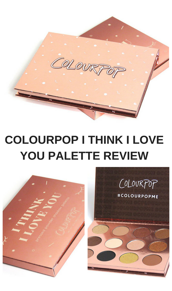 I think I love you is a beautiful palette from Colourpop cosmetics. In this article I will show you a review of this palette. In this review I will show you all the colors, swatches, an eye look and more.