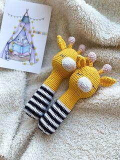 Rattle toy Giraffe