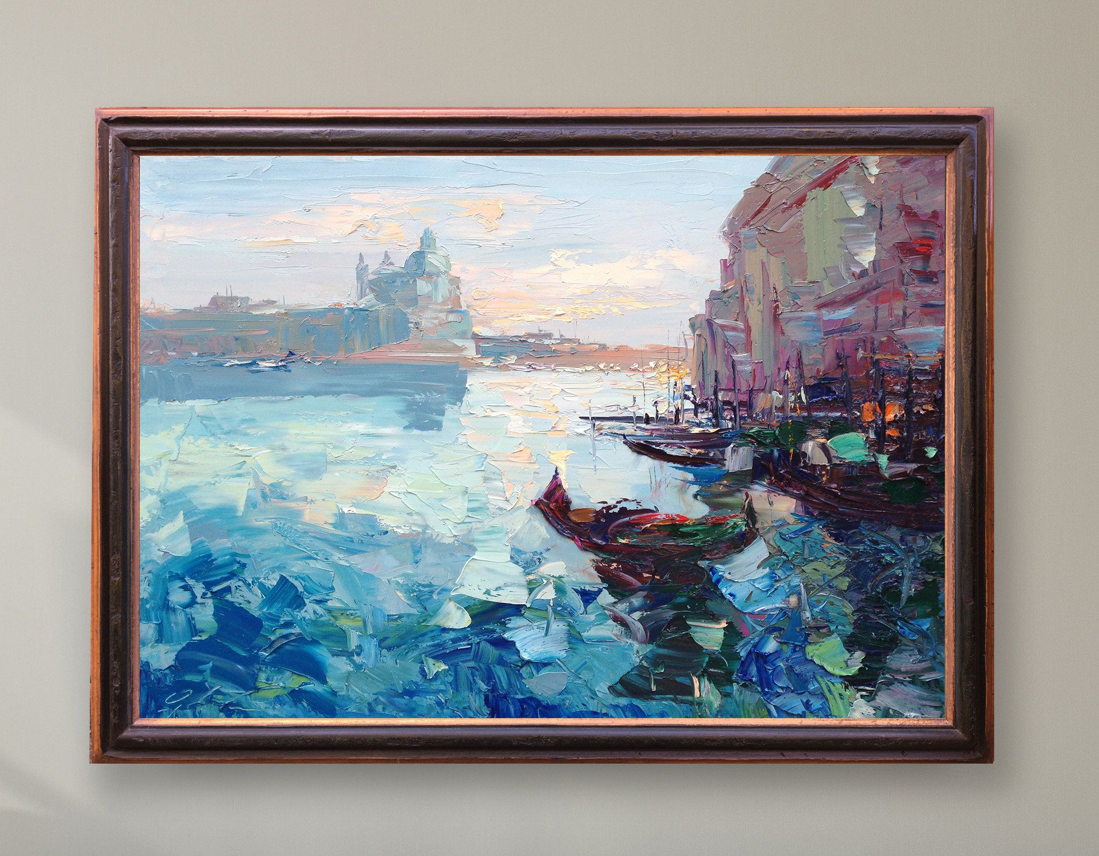 Venice Painting Oil Painting Venice Italy Art Modern Abstract Art