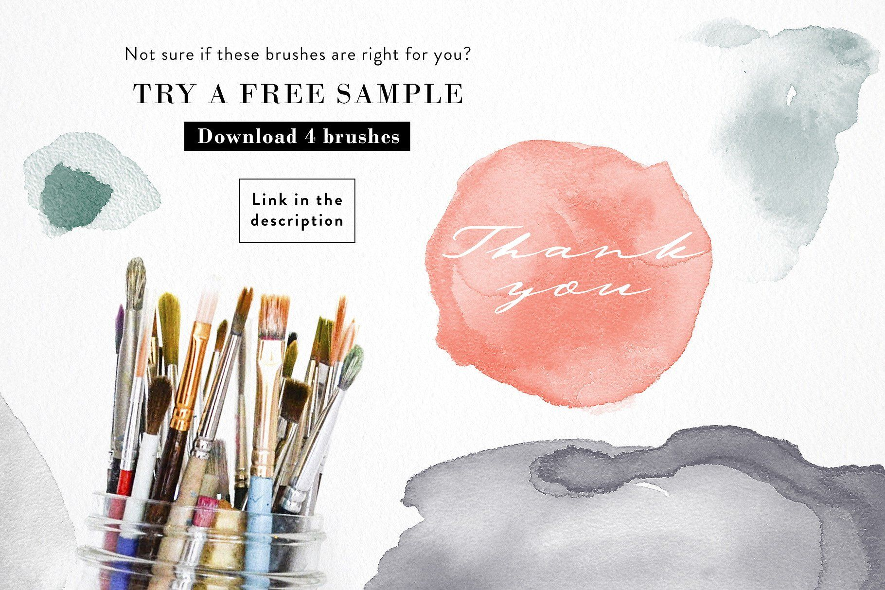 Abstract Watercolor Ps Brushes Carefully Selected Cute