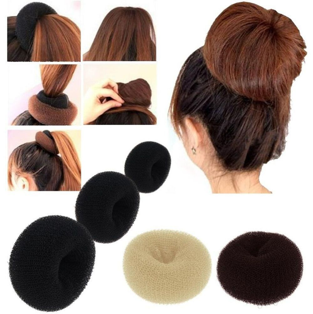 Women Hair Donut Bun Maker Ring Style French Mesh Chignon Ballet Dance Sock Bun Ebay Donut Bun Hairstyles Hair Donut Hair Bun Tool