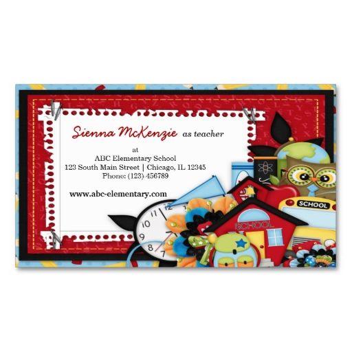 School theme business card