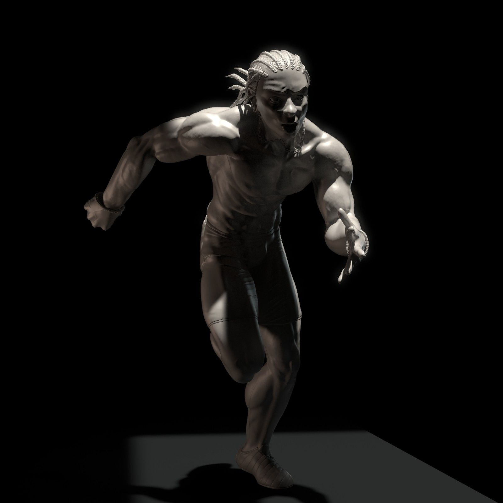 I decided to sculpt a model that I drew the past week in a session of human figure, I tried to stylize without losing anatomy, cheers! :)