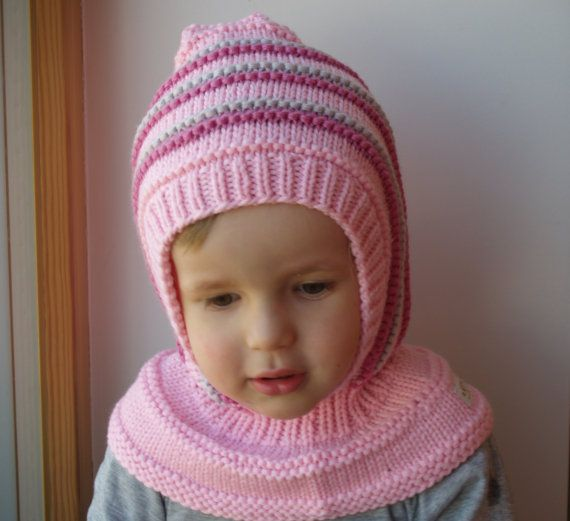 READY TO SHIP size 6-12 months. Knit Balaclava for Baby, Toddler ...