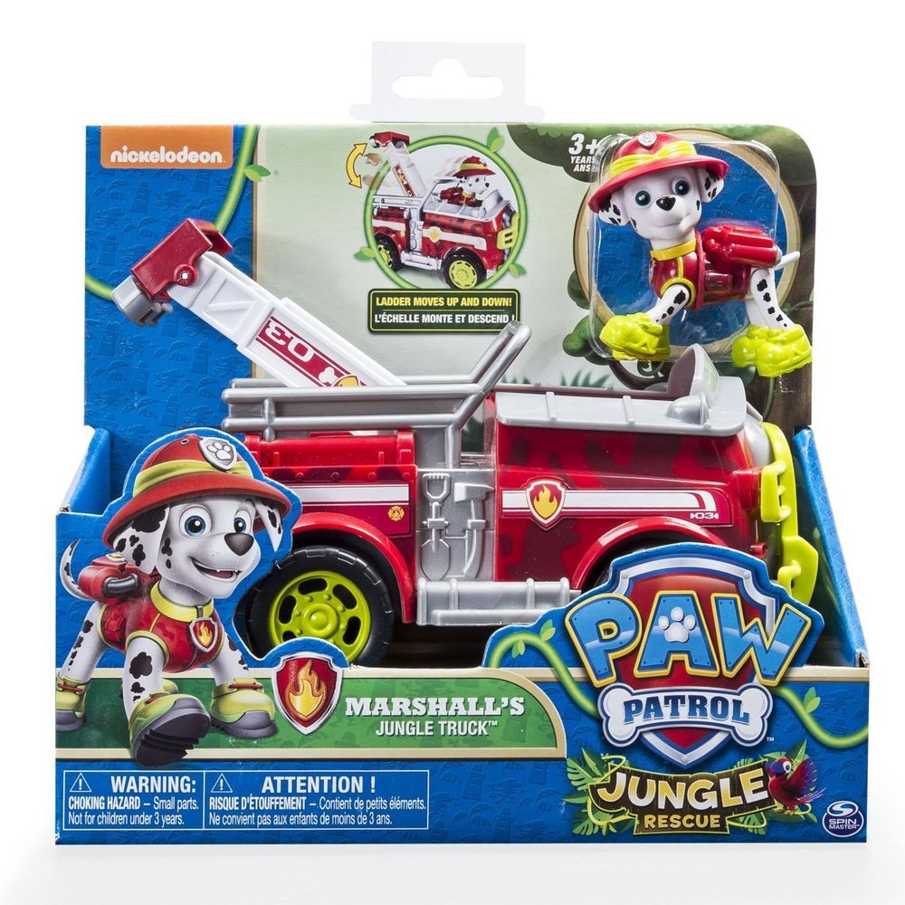 Details about Paw Patrol Marshall Fire Fighting Truck Toy